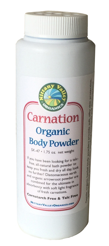 Carnation Organic Body Powder Nittanyvalleyorganics Com